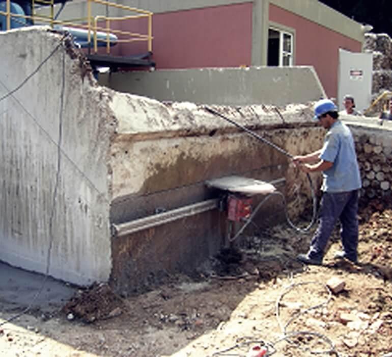 Corte em Estruturas de Concreto -  Reforço Estrutural